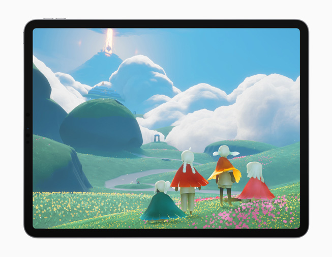 """The """"Sky: Children of the Light"""" game displayed on iPad Pro."""