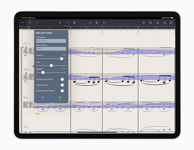 The StaffPad app displayed on iPad Pro.