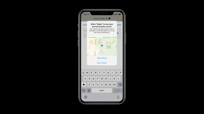 Impostazioni di privacy per la posizione degli utenti in iOS 14.