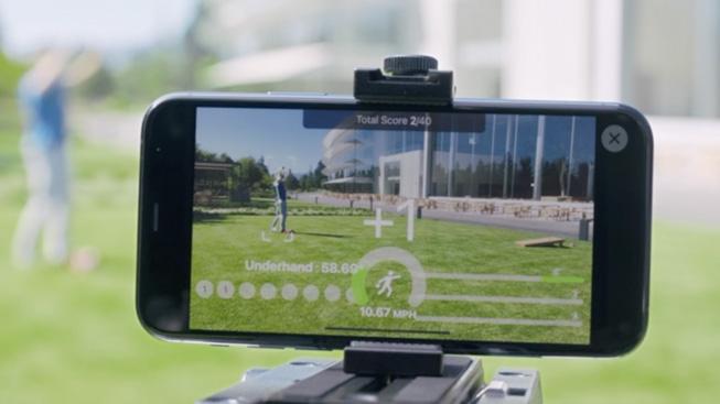 Una demo della funzione di stima della posizione del corpo nell'app Action and Vision.