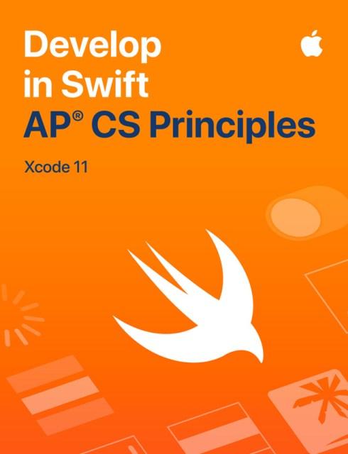 """Immagine della guida per studenti """"Develop in Swift AP CS Principles""""."""
