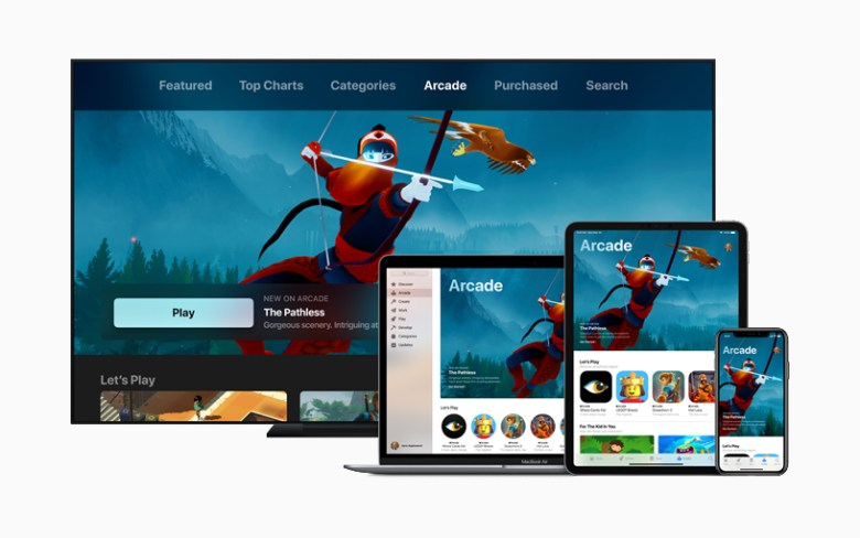 Juego The Pathless en Apple Arcade en iPhone, iPad, Mac y Apple TV.