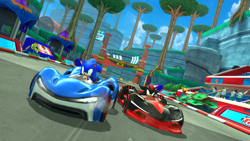 SEGAのApple Arcade用ゲーム「Sonic Racing」の画像。
