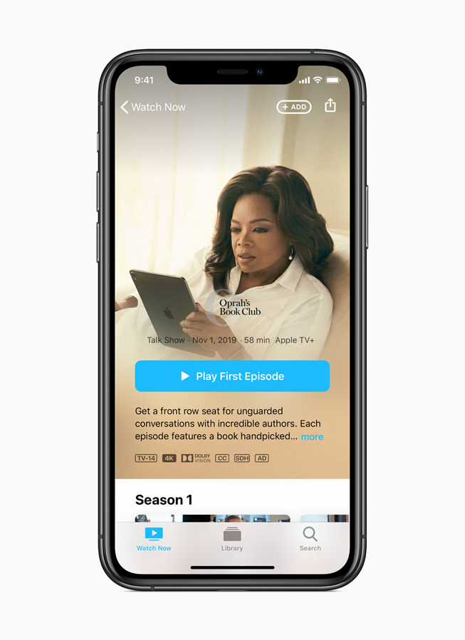 Oprah's Book Club su Apple TV+.
