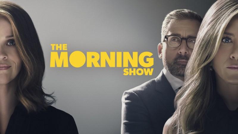 """Pantalla de título """"The Morning Show"""" para Apple TV +."""