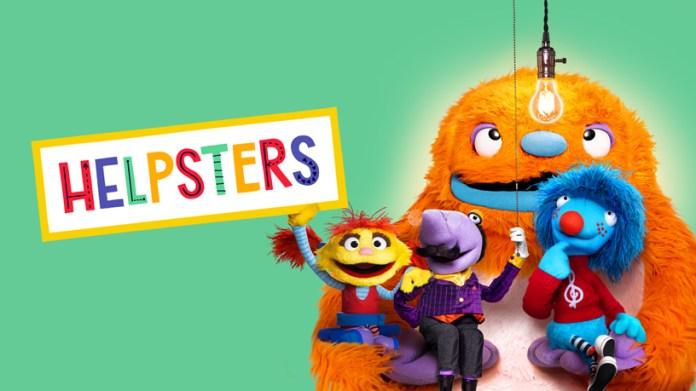 """Tela de título de """"Helpsters""""."""
