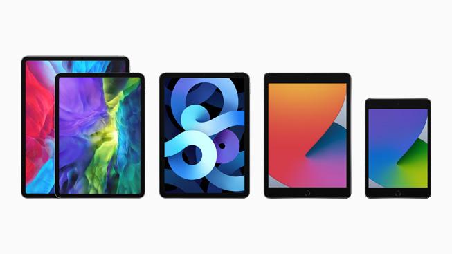 I quattro modelli di iPad nella famiglia iPad.
