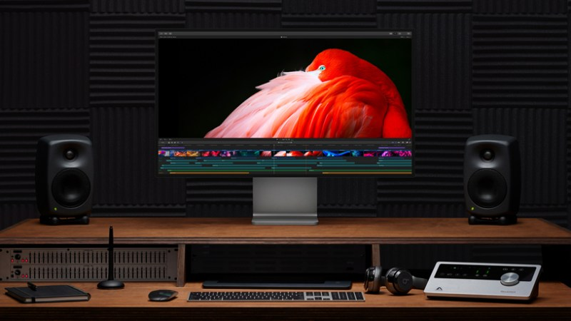 Pro Display XDR on a desk.