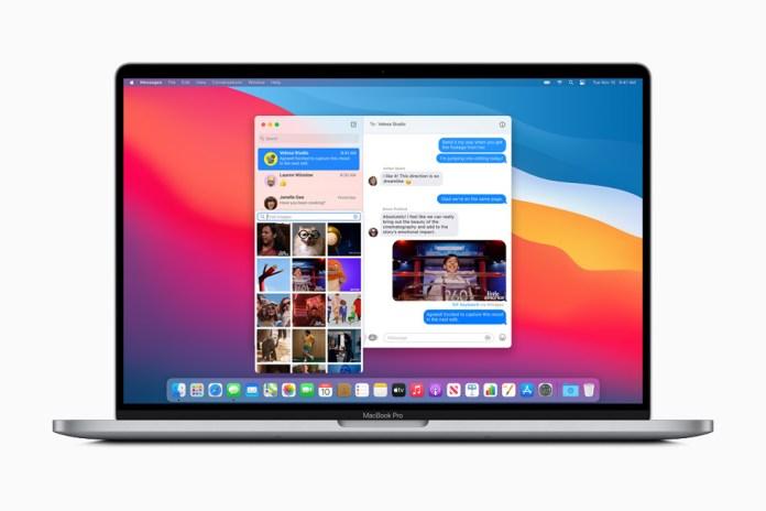 Foto condivisa in un gruppo tramite Messaggi su MacBook Pro.