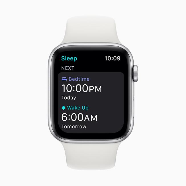 A wake-up alarm displayed on Apple Watch Series 5.