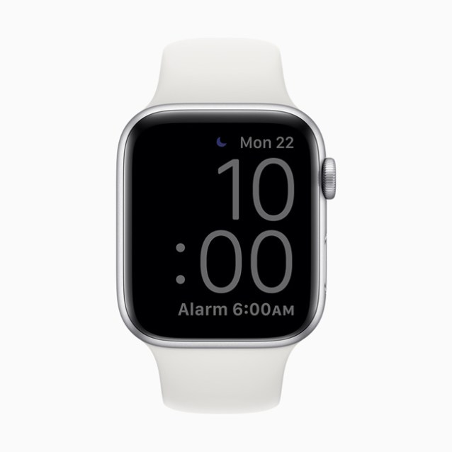 A dimmed screen displayed on Apple Watch Series 5.