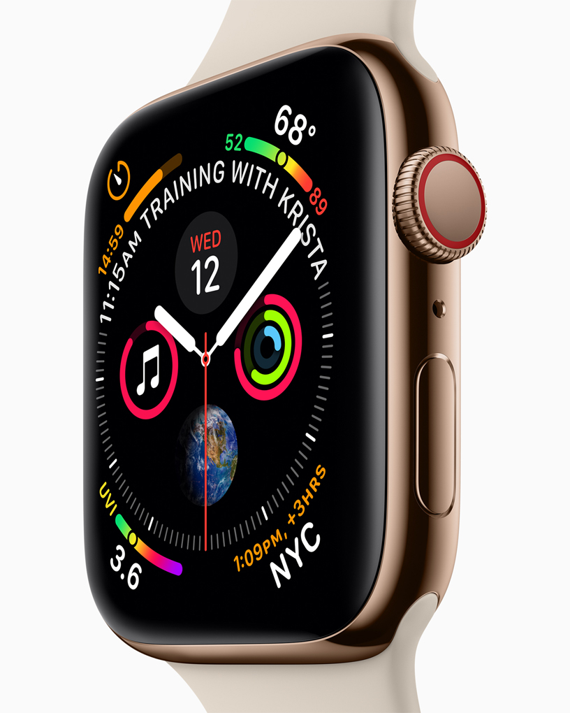 A Close Up Of The Apple Watch Series 4 Watch Face And The New Digital