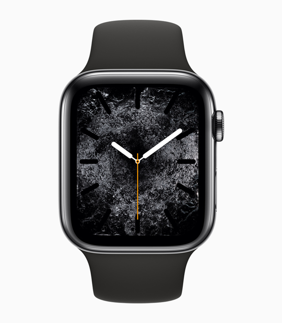 Apple Watch Series 4 displaying the new Water element watch face.