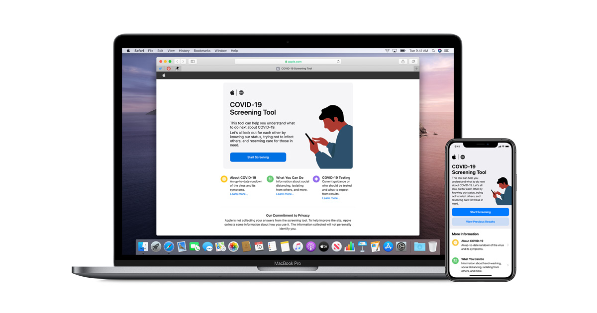 Apple Releases New Covid 19 App And Website Based On Cdc