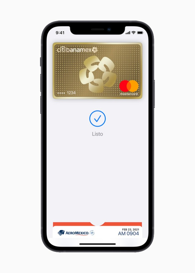 Tarjeta Citibanamex en Apple Pay en iPhone.