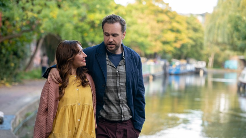 """Rafe Spall and Esther Smith in """"Trying"""""""
