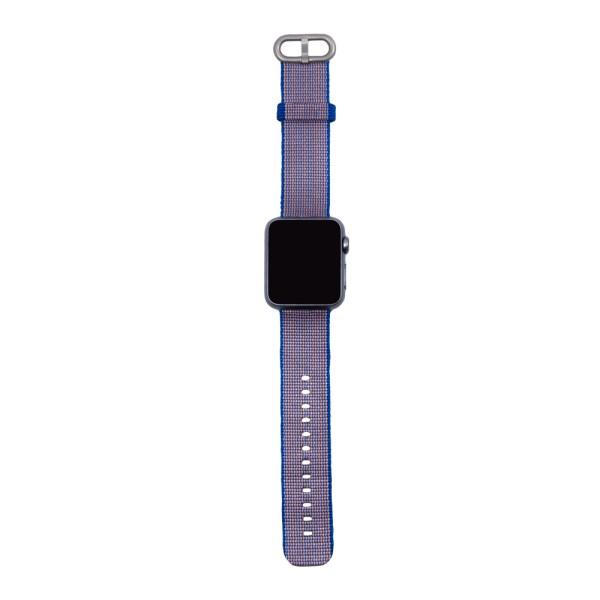 Blårosa vävt nylonarmband för Apple Watch