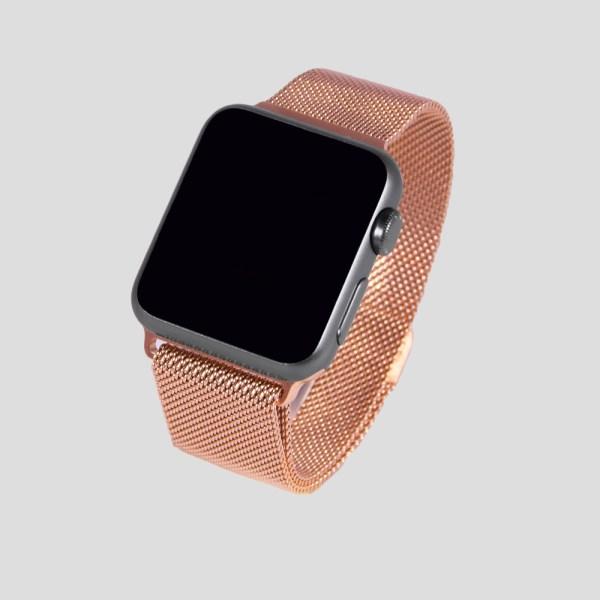 Roseguld Milanesisk loop-armband för Apple Watch
