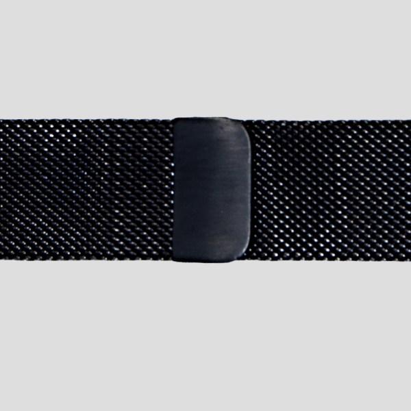 Svart Milanesisk loop armband för Apple Watch