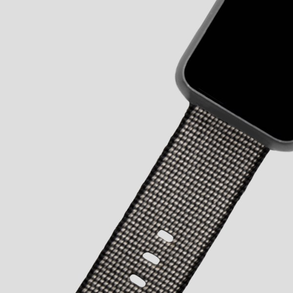 Svart vävt nylonarmband för Apple Watch