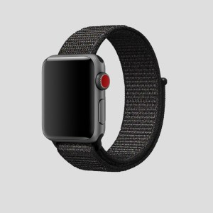 Svart soft sport armband för Apple Watch