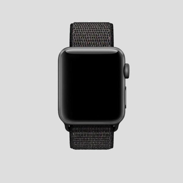Svart soft sport armband för Apple Watch