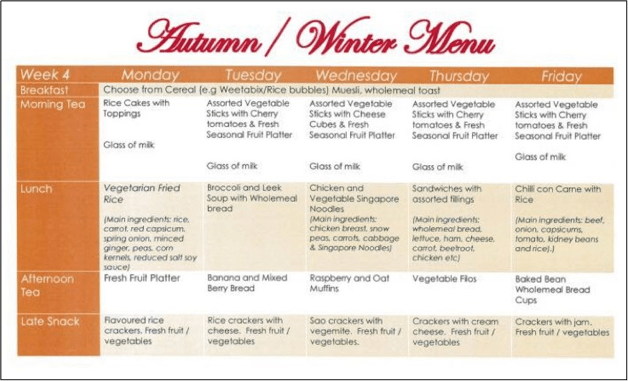 Autumn & Winter Menu