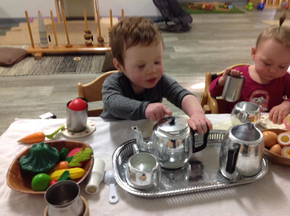 afternoon tea for children - Dramatic Play for Babies at Apple Blossoms Early Learning child care centres