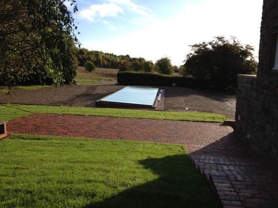 Finished pool house