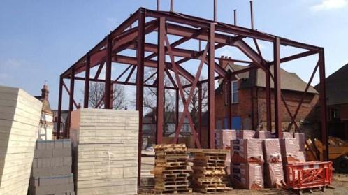 Main hall construction