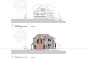 Existing & proposed rear elevation