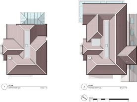 Existing & proposed roof plan