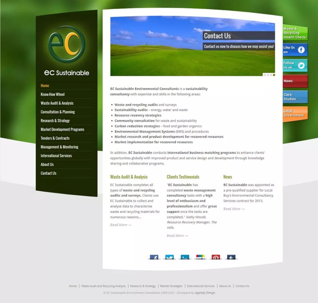 EC Sustainable Website with WordPress Training