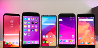 iPhone 7 Plus LG G6 Galaxy S8 OnePlus 3T