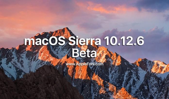 macOS Sierra 10.12.6 Beta