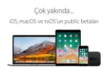 tvOS 11, macOS 10.13 ve iOS 11 Public Beta