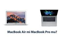 MacBook Air mi MacBook Pro mu