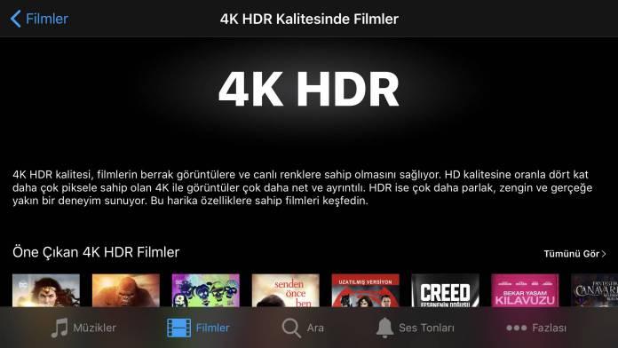 iTunes 4K HDR