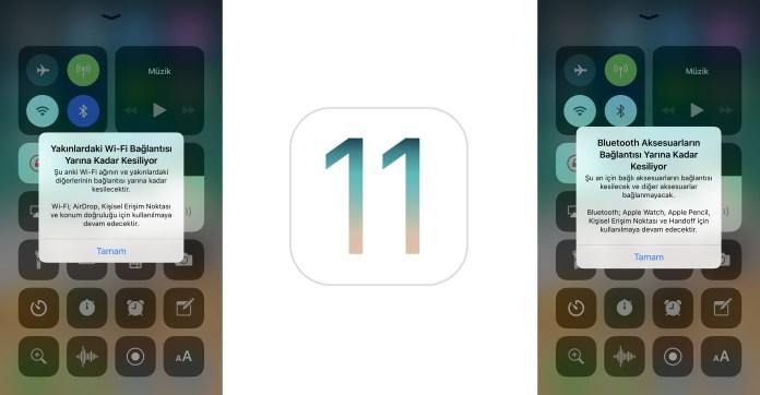 iOS 11.2 Yenilikleri Denetim Merkezi