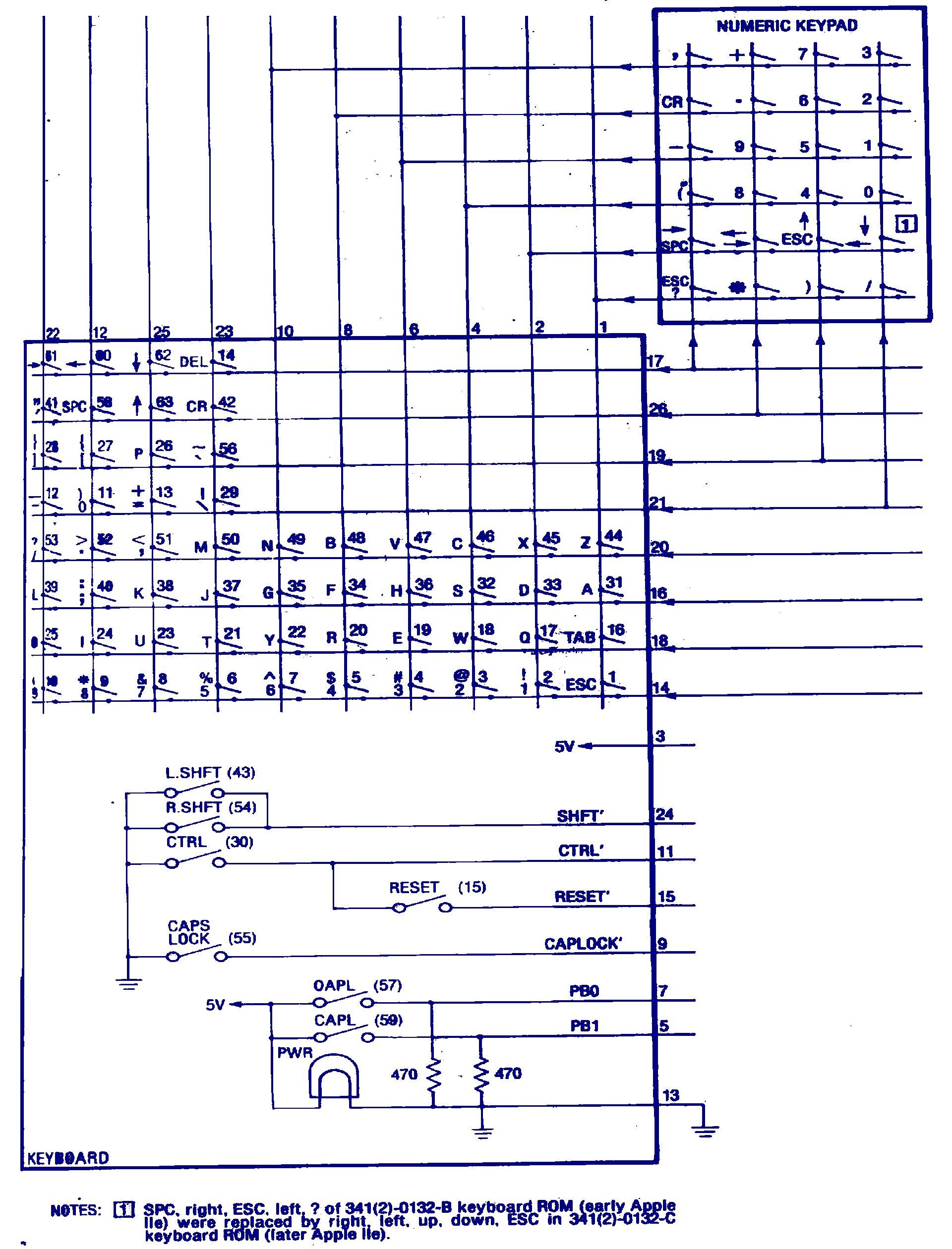 hight resolution of apple iie keyboard schematic applefritterapple iie keyboard schematic