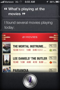 siri movies now playing