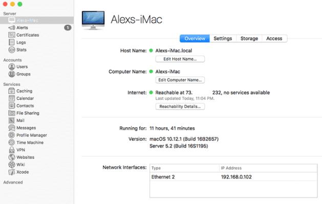 macos server main screen