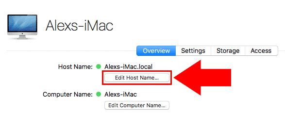 macos server edit host name