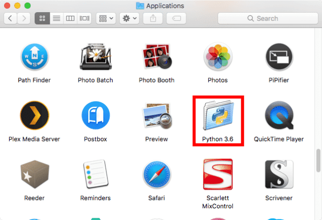 python 3 mac application folder