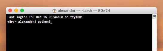 python 3 mac command line