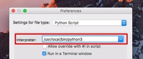 python 3 mac launcher preferences 2