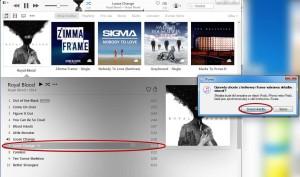Nejprve smažte krátkou stopu v iTunes