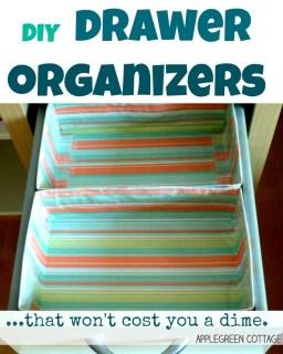 diy drawer organizers
