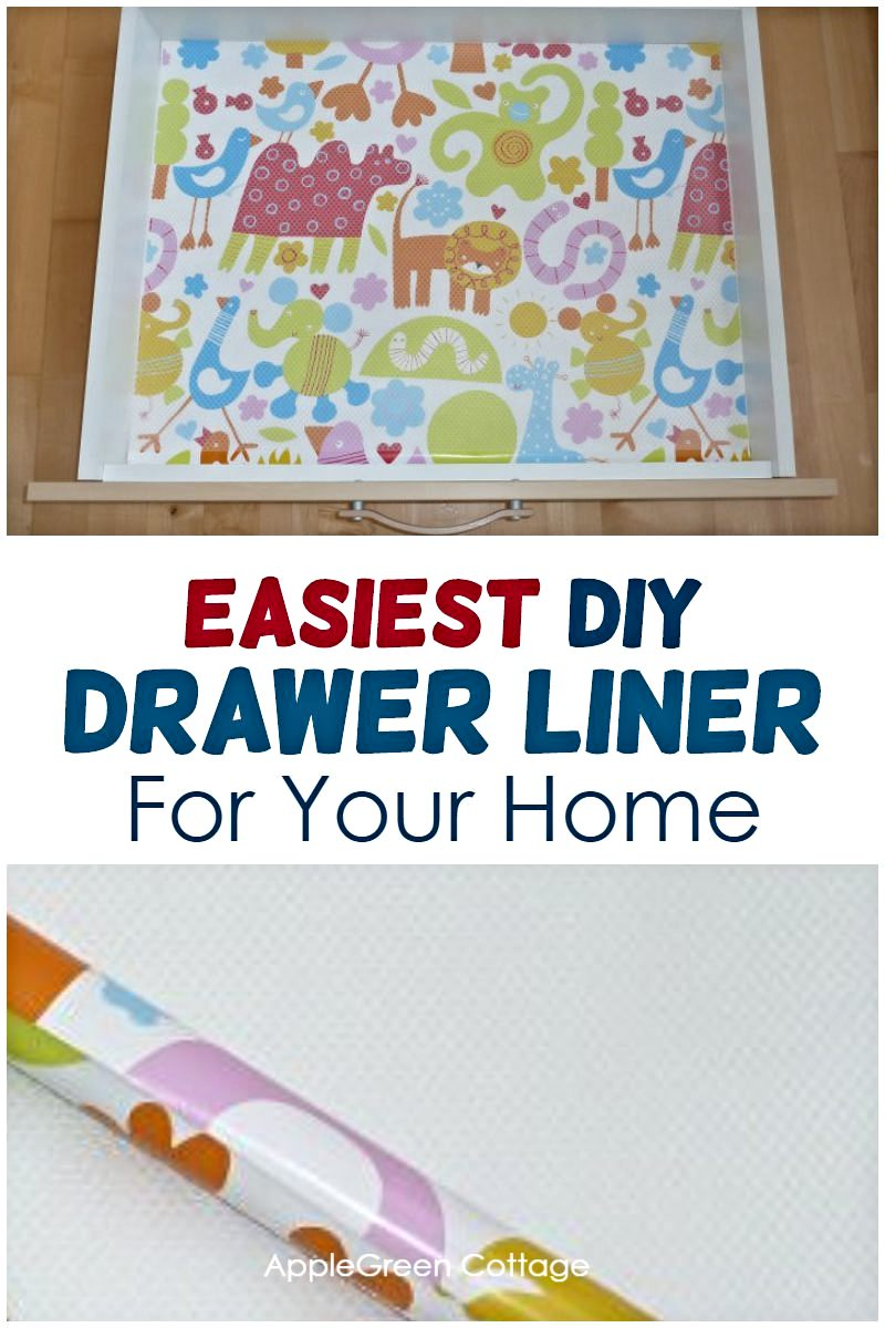 easy diy drawer liner