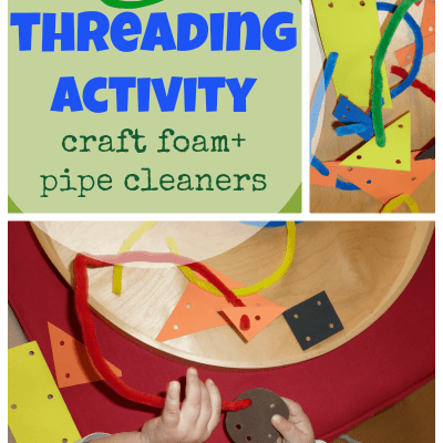 kids activities DIY  from craft foam and pipe cleaners